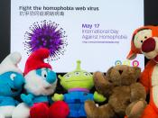 """抗爭恐同症網絡病毒 Fight the homophobia web virus"" / 生頌多樣玩具故事 Life Celebrates Diversity Toy Story: International Day Against Homophobia (IDAHO) / SML.20130517.6D.06866"