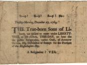 Sons of Liberty broadside