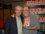 English: Activist and author Tom Hayden (left) with Mark Rudd. Hayden was promoting his book,