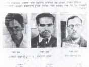 English: Wanted Poster of the Palestine Police Force offering rewards for the capture of Stern Gang terrorist: 1. Jaacov Levstein (Eliav), 2. Yitzhak Yezernitzky (Shamir), 3. Natan Friedman-Yelin