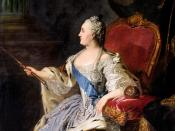 Oil on canvas portrait of Empress Catherine the Great by Russian painter Fyodor Rokotov