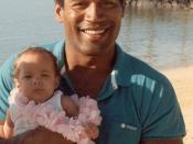 Cropped from Football star/actor/accused murderer O.J. Simpson, with his daughter, Sydney Brooke Simpson, at the Kahala Hilton Hotel in Honolulu, Hawaii.