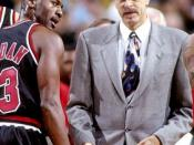 English: Chicago Bulls Michael Jordan and Phil Jackson 1997