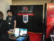 English: This is the Electronic Frontier Foundation (EFF) booth at the Security Expo at the 2010 RSA Conference. This picture is also available at: http://www.flickr.com/photos/ixfd64/4405862822