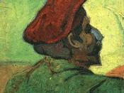 English: Paul Gauguin (Man in a Red Beret) Oil on Canvas, 37 x 33 cm Van Gogh Museum, Amsterdam