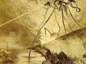English: Alien tripod illustration by Alvim Corréa, from the 1906 French edition of H.G. Wells'