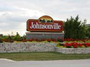 English: The sign for Johnsonville Foods in Johnsonville, Wisconsin.
