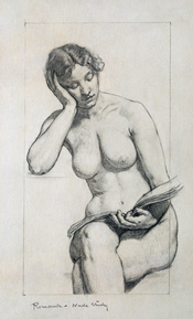 Kenyon Cox, Nude study, 1896, Kenyon Cox was a strong advocate of figurative art.