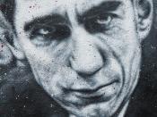Claude Shannon, painted portrait - la théorie de l'information - thierry Ehrmann __1010216