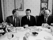English: L-R: Amb. Llewellyn Thompson, Soviet Foreign Minister Andrei Gromyko, Secy. Dean Rusk