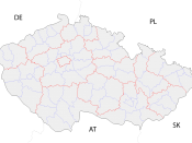 Map with districts.