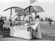 Refreshment stand at Methodist Campgrounds, Huntington Beach