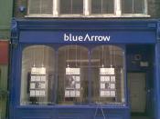 A recruitment agency shop window near Holborn, London