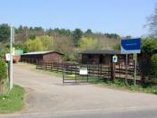 English: The entrance to Brandon Wood Farm Brandon Wood Farm is a centre providing training and support for adults with a learning disability.