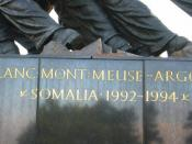 Somalia intervention on Marine Corps Memorial