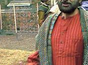 Shekhar Kapur on the set of Elizabeth: The Golden Age