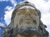 Statue of Che Guevara near the site of his execution in Bolivia.