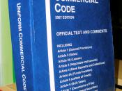 English: The Uniform Commercial Code, 2007 official edition. Photographed at the law library of the UC Berkeley School of Law.