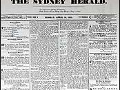 English: Cover of the first edition of the Sydney Morning Herald. Hrvatski: Novosti.