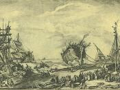 English: Launching of the Duc de Bourgogne at Rochefort on October 20, 1751