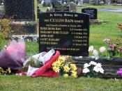 English: Memorial to the family of David Bain, Mosgiel, Dunedin, New Zealand.
