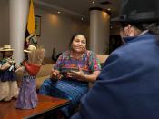 Llegada de Rigoberta Menchú al Ecuador