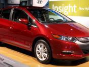 2010 Honda Insight photographed at the 2009 Washington DC Auto Show.