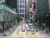 An outdoor poster appears at the Central, Hong Kong
