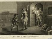 1875 engraving depicting the capture of Fort Ticonderoga by Ethan Allen on May 10, 1775