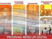 Español: Imagen representativa de los Cuatro Pilares que soportan la Estrategia de Medellín Digital