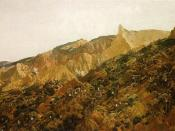 Anzac, the landing 1915 by George Lambert, 1922 shows the landing at Anzac Cove, 25 April 1915