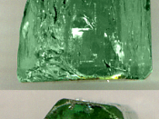 Emerald showing its hexagonal structure