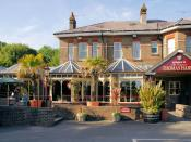 English: The Thomas Hardy A pub not far from Thomas Hardy's house, Max Gate, though now on opposite sides of the A35..