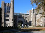 Entrance to Bostock Library at Duke University