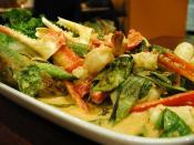 Thai Seafood Curry Dish