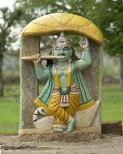 English: Krishna statue, Chambal, M.P., India. Français : Statue de Krishna, Chambal, M.P., Inde. हिन्दी: कृष्ण प्रतिमा, चम्बल, एम.पी. ।