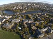English: Aerial of the Harvard Business School campus