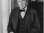 Clarence Darrow, 1857-1938. Portrait, half length, seated, facing left.