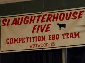 Slaughterhouse Five banner - Oklahoma Joe's Barbecue & Gas Station - Kansas City, Kansas