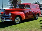 English: Holden FJ panel van in original Royal Mail livery.