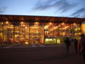 Français : Aérogare de l'aéroport de Limoges-Bellegarde, Haute-Vienne, France
