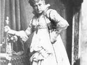 Charlotte Wolter, actress; Seen as Elisabeth in Maria Stuart of Friedrich Schiller
