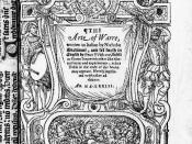 English: The Arte of Warre, written in Italian by Nicholas Machiauel, and ſet foorth in English by Peter VVithorne, published 1573. Public Domain, created 1819