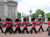 Changing of the Queen's Guard at the royal residence, Buckingham Palace