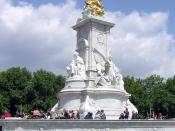 The Victoria Memorial in front of Buckingham Palace was erected as part of the remodelling of the façade of the Palace a decade after her death.