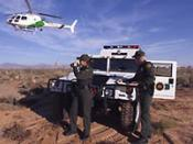 Border Patrol Agents watch for illegal entry from Mexico into the U.S.