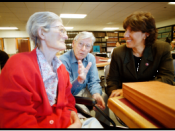 Janet Morris, Director of Bet Tzedek's Family Caregiver Program, with clients.