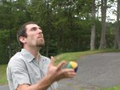 English: Picture taken of me juggling.