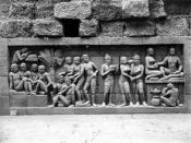 COLLECTIE TROPENMUSEUM Reliëf O 78 op de verborgen voet van de Borobudur TMnr 10015815