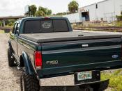 Black Diamond Plate Aluminum Tonneau Cover on 1997 F-350